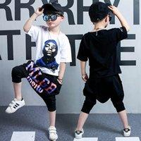 Mode Sommer 2019 Jungen Anzüge Cartoon Jungen Kleidung Sets Kurzarm T-Shirt + Harem Pants Große Kinder Kleidung Kinder Sets Kinder Anzug A4232