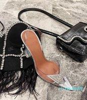 봄과 여름 나비 PVC 높은 굽 신발 가져온 재료 정품 가죽 발바닥 7-9cm 크기 34-40 여자 Neideng 2021