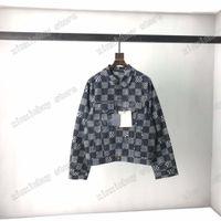 21SS Designer Designer Denim Giacche Dobby Chessboard Lattice Vestiti Mens Cappotti Cappotti Capispalla con cappuccio Abbigliamento Abbigliamento Bianco Nero Bianco