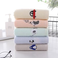 Cotton towel children household student Cartoon Clean wash face Small towel soft absorbent wash face towel Outdoor Travel Portable