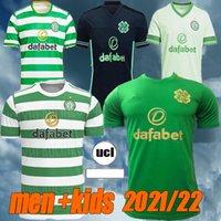2022 Celtic Home Futebol Jerseys Edouard 20 21 Lay 3Rd Brown McGregor Camisa de Futebol Griffiths Homens Crianças Uniformes