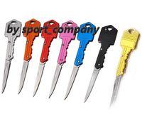 Женщина самообороны брелок ножи с коммерческими держателем многофункциональный ключ нож мини-складной нож небольшой лезвие Открытый сабер швейцарский EDC инструмент для инструмента 7 цветов