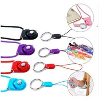 Detachable Neck Strap Rotatable Lanyard Colorful Hanging Rope With Sling Finger Ring For Cell Phone Id Card NHB7069