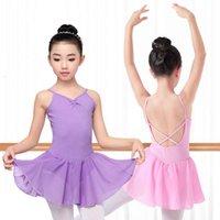 Dancewear Físico ShootingChildren's Dance Cross Treinando Sling Chiffon Ballet Saia Aberto Princs Crotk Drs Body Suit