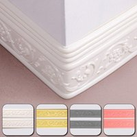 Wall Stickers 3D Stereo Baseboard Sticker Waterproof Wallpaper Foam Self Adhesive Trim Line Skirting Border Stick Tiles Home Decoration