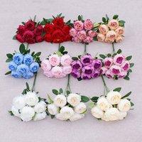 7 Köpfe Künstliche Pfingstrose Blume Simulation Camellia Seide Tee Rose für DIY Hausgarten Hochzeit Dekoration GWA4617
