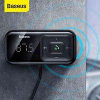 Baseus Bluetooth 5.0 Wireless FM Transmitter MP3 Player Receiver 3A Dual USB Car Charger Cigarette Lighter For Samsung