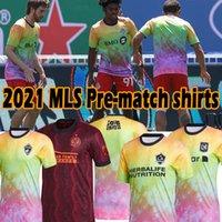 2021 Love Unites Soccer Jerseys MLS DC Inter Miami La Galaxy Atlanta Nashville Los Angeles Pre Match Shirts Orlando سياتل Sounders New City York Toots