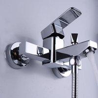 Painel limitado do chuveiro do Chrome Banheira de cobre Torneira triplo da água da torneira do banheiro escondido e misturando conjuntos