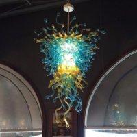 Муранские стеклянные люстры лампы Nordic Style LED пользовательских ручной работы люстра подвесные светильники