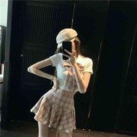 Mode Student Mädchen Schule Uniform Set Japanischer Stil JK Anzug Kurzer Plaid Rock Sailor Cosplay Kostüme Sexy Kleidung 210409