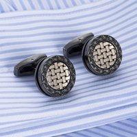Luxury Brands Cufflinks For Mens Groomsmen Gifts Luxury Cufflinks Designer Business Simple Men Sleeve Shirt High-grade