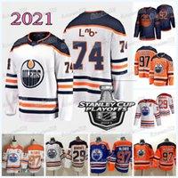 Edmonton Oilers 2021 Stanley Cup Playoffs Jersey Connor McDavid Leon Draisaitl Gaetan Haas Devin Shore Ethan Bear Alex Stalock Oscar Klefbom Zack Kassian