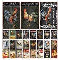 Ferme Poulet Metal Signe Vintage Henhouse Décoration Tin Plaque Plaque Affiche en métal Décoration Vintage Mur Artwork Peinture Fer