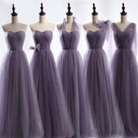 Party Dresses The -selling Bridesmaid In 2021 Purple Sweetheart Colla Customized Wedding Temperament Prom Gowns