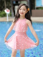 One-Pieces Children's Swimsuit Girls' Summer One-Piece Baby Children Middle And Big Cute Swimwear