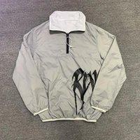 Breakbreaker Reflexivo 21ss Revenge Jacket Duplo Diante de Loose Fit Casaco Lazer Homens Mulheres Hip Hop Jackets Homens