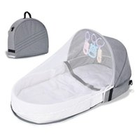 Baby Cribs Foldable Backpack Bionic Isolation Bed (with Mosquito Net) Infant Portable Outdoor Travel Crib Sleeping Cushion Bedding