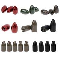 Acessórios de pesca 2-6pcs / set Tungsten pesos de liga de cobre forma de peso de peso lançando / worm 5.3g-28g