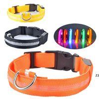 LED leuchtende Pet-Halsbänder USB-Lade-Nachtwarnung, um zu verhindern, dass Hundekragen HWF10880