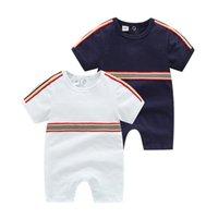 Mode 2021 enfant de bébé designer nouveau-né bébé garçons filles gompe courtes manches courtes coton enfant kids saut combinaison vêtements enfants vêtements enfants vêtements