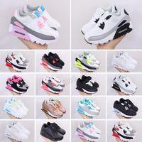 2021 أحذية chaussures كلاسيكي أطفال أحذية رياضية الرجال النساء المدربين الرياضة أسود أحمر وسادة بيضاء حجم 28-35