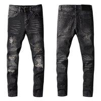 Hombres jeans masculinos pantalones delgados para hombre clásico biker masculino pantalones de negocios moda casual jean tamaño 28-40