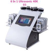 6 en 1 fréquence radiofréquence RF Soins de la peau du visage 40K Cavi Lipo Laser Laser Slimmingliposucction Cavitation ultrasonique Lipolaser Machine de beauté