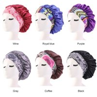 Luxury Wide Band Satin Bonneth hat Comfortable Night Sleep cap Hair Loss