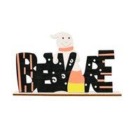Party Supplies Halloween Dekoration Holz Brief Ornamente gemalt Kürbis Tricks oder Treat Startseite Abendessen Tischdekor GWE8741