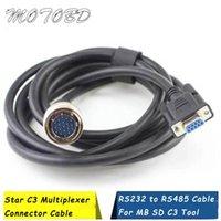 Trabalhe para MB Connect Connect Tool Star C3 Multiplexer Conector 232 a 485 Cable Diagnóstico 9 Pin 19 Cabos Ferramentas