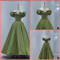 2021 robe de soiree green off the shoulder prom dresses pick-ups informal short ankle length elegant party dress sweetheart neck fashion cocktail gowns custom made