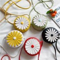 2021 Forme ronde Style de fleur Mini sac Enfants Belle Daisy Girls Messenger Sac Sac à dos Sac à bandoulière Sacs de monnaie GWe8122