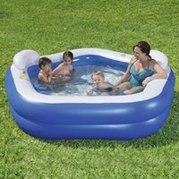 Two Ring Pentagonal PVC Plastic Pool Family Inflatable Envir...