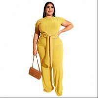 4XL 5XL Plus Size Suit Womens Tracksuits 2 Piece Sets Sexy Short Sleeve Pantsuits Casual Fashion Trouser Outfits Big 3XL