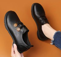 Dress Shoes Breathable Women's Leather Autumn And Winter Fashion Retro Low-heeled Casual