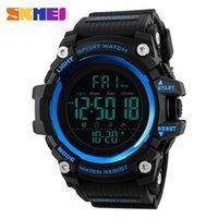 Männer Digital Sport Mode Beiläufige Uhr Wasserdichte 12/24 Stunden zählen Zählung 2 Zeit Anhalten Zurück Licht Armbanduhr Armbanduhren