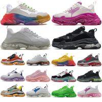 balenciaga balenciaca balanciaga Designer Triple S  Shoes Clear Bubble Midsole Men Triple-S Sneakers Increasing Leather Dad  hommes femme  femmes baskets  chaussures
