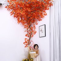 12pcs Lot Artificial Flowers Red Maple Leaves Fake Plants Autumn Fall Leaf Twig Tree Branches For Garden Wedding Party Thanksgiving Day Home Christmas Decoration