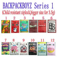 Mochilpackboyz 3.5g Oler a prueba de mylar bolsas Resellable Baggies Backpack Boyz Biscotti Gelato 41 Guarana Billy Kimber Zerbert Gelatti