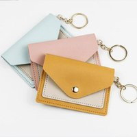 Card Holders 1 Pc Mini Candy Color Holder PU Leather Business Case Female Cute Short Small Wallet Coin Purse