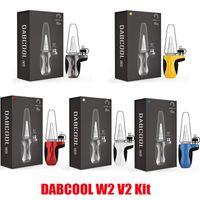 Authentic DABCOOL W2 V2 Kits E-cigarette E-cigarrillo 1500mAh Vaporizador de batería Modhookah Cerra de cera Concentrado Buyder DAB Rig Vape Kit 4 Ajustes de calor 100% genuino