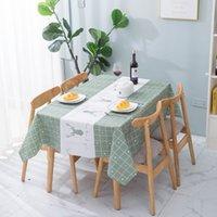 북유럽 테이블 헝겊 방수 방수 씻어 무료 소재 격자 무늬 인쇄 직사각형 가정용 책상, 식사 toom 매트