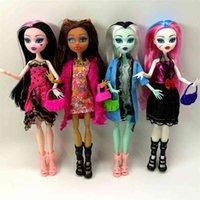 est no box 4 pcs / 세트 인형 스타일 높은 인형 몬스터 재미 높은 움직일 수있는 공동 바디 패션 인형 소녀 장난감 선물 210923