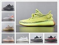 Designs 2020 original V2 V2 Clay Static Mens Mulheres Sapatos Barato 3M Sapatos Reflexivos Formulário Verdadeiro Hyperspace Kanye West Runner Trainer Sneakers