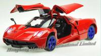 1:32 Échelle Alliage Métal Diecast Modèle de voiture Sports Sports pour Pagani Huayra Collection Modèle Tirez sur Toys Racing Voiture de course avec SoundLight