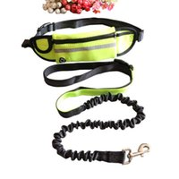 2 in 1 Pet Reflective Waist Bag Elestic Leashes Set Traction Rope Dog Running Belt Hands Free Jogging Pull Dogs Leash
