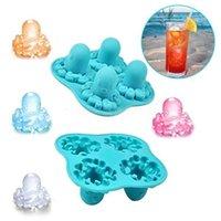 Kreativer adorable Krake Eisform Neu Silikon Eisschale Form Küche Bar Kühlung Fruchtsaft Trinken Nette Eismaschine CPA3403 CJ08