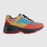 2021 Tasarımcı Rhyton Sneakers Ayakkabı Erkek Kadın Eğitmenler Vintage Lüks Chaussures Bayanlar Spor Rahat Ayakkabı Tasarımcılar Koşucu Sneaker Kutusu Boyutu 35-46