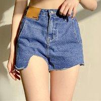 Nibber W21P01193 Удивительный дизайн пользовательских асимметричных малораздельных повседневных улиц сексуальные женщины леди джинсовые горячие шорты короткие джинсы